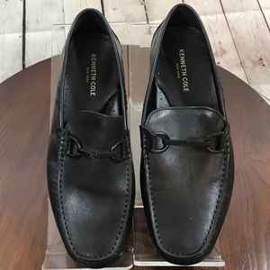 EUC 9 Black Leather Driving Loafers Kenneth Cole